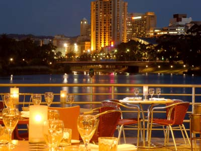 Enjoy dinner at the renowned River Cafe