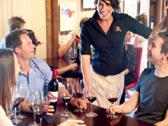 Wine tasting on winery tour in McLaren Vale