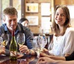 People enjoying wine at a winery in McLaren Vale