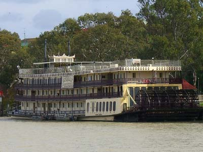 Steam boat on the Murray