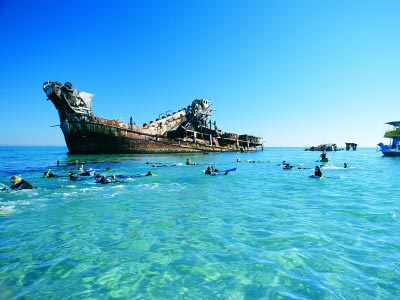 Snorkelling amongst the shipwrecks - Moreton Island