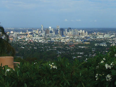 Brisbane views from Mt Coot-tha