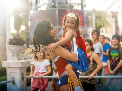 Wonder Woman at Movie World theme park on the Gold Coast