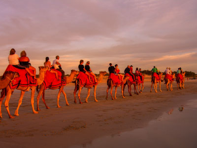 Camel ride at Cable Beach, Broome