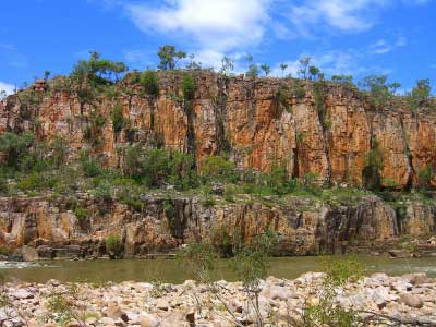 Sheer cliffs of Katherine Gorge