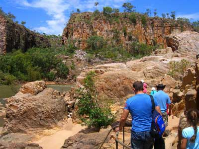 Walking in Katherine Gorge