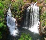 elevated view of florence falls at litchfield national park