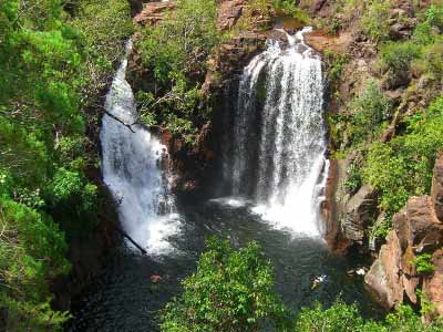 Florence Falls from lookout in Litchfield National Park