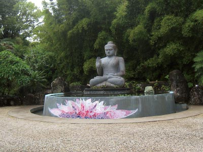 Buddha statue at Crystal Castle
