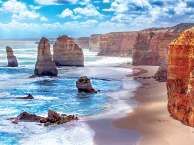 Twelve Apostles rock features in Port Campbell National Park