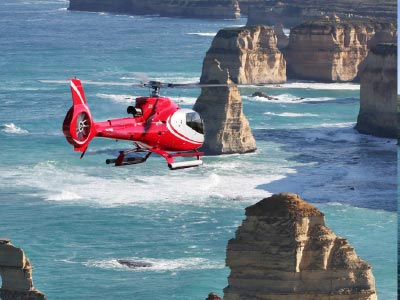 Helicopter over The Twelve Apostles