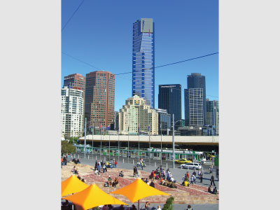 Eureka Tower from Federation Sqaure