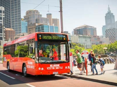 Melbourne Visitor Shuttle hop on hop off bus
