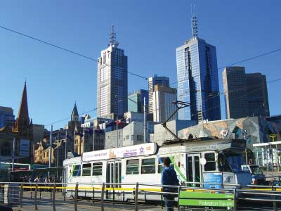 One of Melbourne's iconic trams