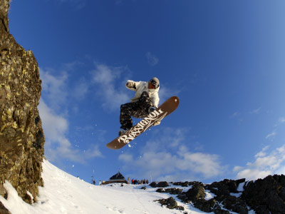Snowboarding at Mt Buller
