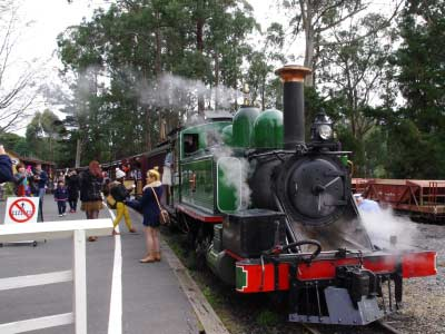 All aboard Puffing Billy