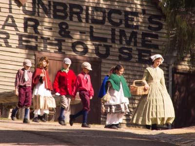 School children at  Sovereign Hill