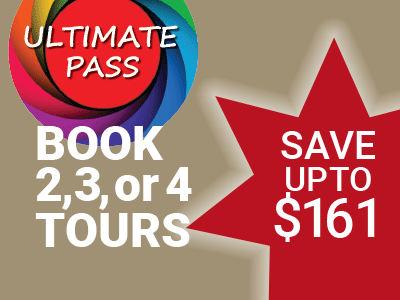 Gray Line ultimate pass, Book 2, 3, or 4 tours, save up to $224