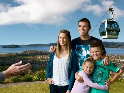 Rotorua lake and gondola