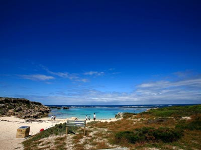 Secluded bay on Rottnest Island