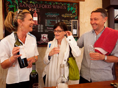Sandalford Estate wine tasting in the Swan Valley