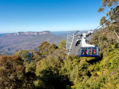 Blue Mountains Scenic World Cableway ride.