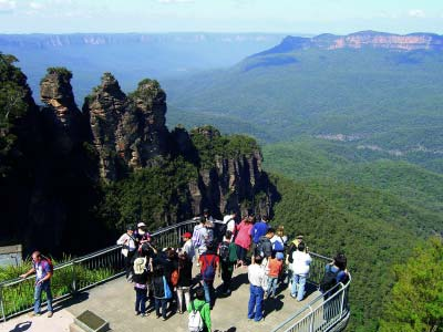 Viewing platform at the Three Sisters