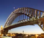 Sydney Harbour Bridge at twilight