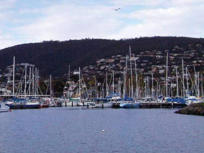 Hobart waterfront and marina