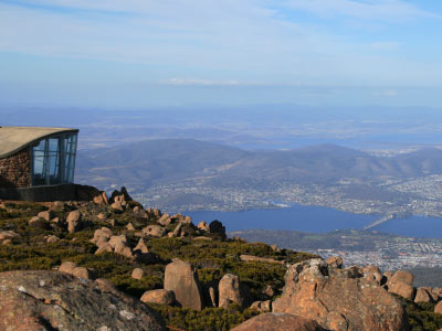 View from Mt Wellington