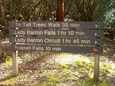 Walking options in the National Park